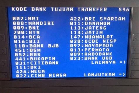daftar kode bank di indonesia bca mandiri bni bri dll kode bank bni bca mandiri bri seluruh indonesia