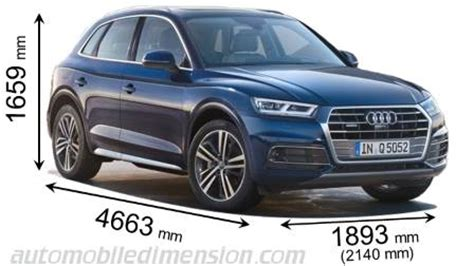 2014 audi q5 length dimensions of audi cars showing length width and height