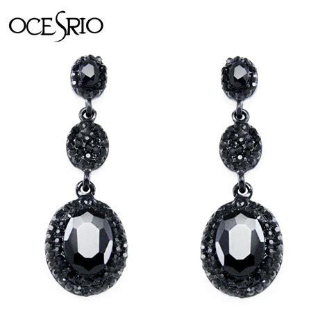drop earrings black dangle earrings