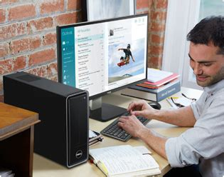 small desk top deals dell inspiron 3000 dual slim desktop with
