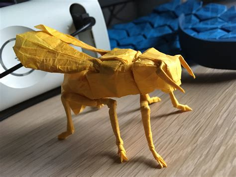 Origami Yellow Jacket - here s a link origami yellow jacket wasp designed