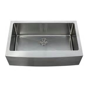 Farmhouse Stainless Steel Kitchen Sink Kraus Khf200 33 Farmhouse Apron Single Bowl 16 Stainless Steel Kitchen Sink Atg Stores