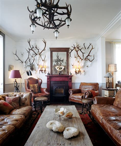 Deer Themed Living Room by The Jura Lodge We