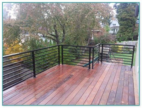 horizontal metal railing horizontal aluminum deck railing