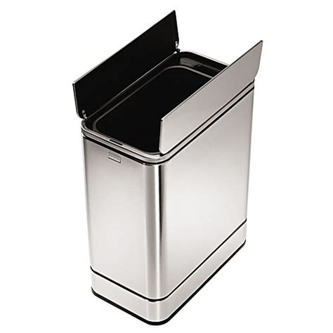 bed bath and beyond simplehuman trash can simplehuman 174 stainless steel butterfly 48 liter sensor