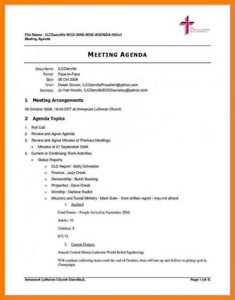 Meeting Agenda Template Doc Template Business Meeting Agenda Template Doc