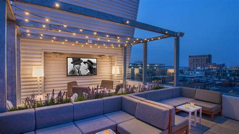Roof Patio by Sky Lounge Rooftop Terrace Seaport Boston Bar Yotel