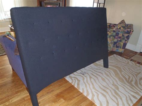 A Headboard Out Of Plywood And Fabric by Plywood 2x4 2x2 Staple Gun Fabric Thumb Tacks 8