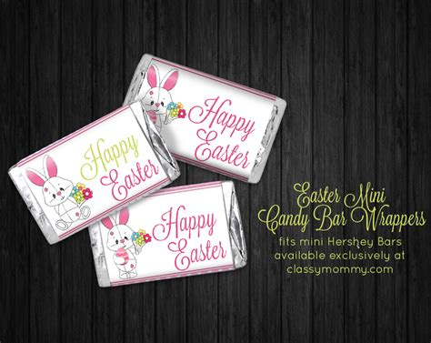 printable easter candy bar wrappers classy mommy