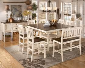 height dining table white
