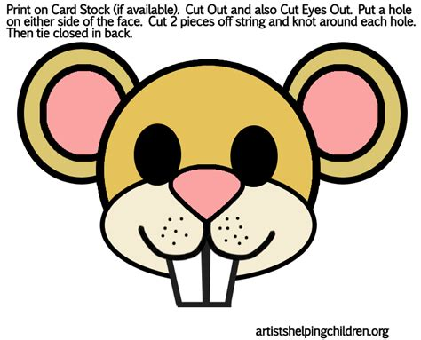 mouse mask template printable mouse mask outline new calendar template site