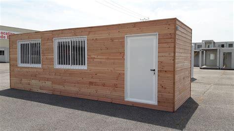construction bureau fabrication et installation de bungalows avec bardage bois
