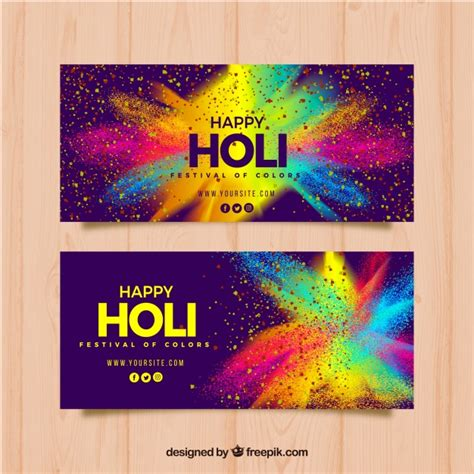 color feast when to use orange in the dining room realistic holi festival banners vector free download
