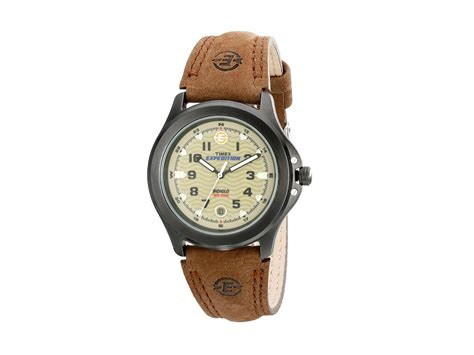 Expedition E6677 Black List Leather Brown For timex metal field expedition 174 brown leather zappos free shipping both ways