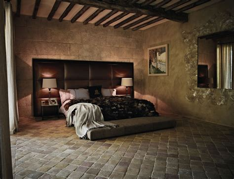 tiled bedroom mediterranean antique terracotta floor tiles