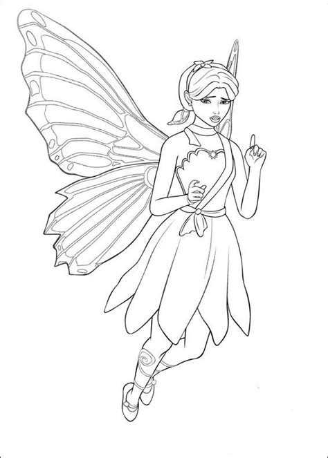 coloring pages of barbie mariposa barbie maripossa coloring pages