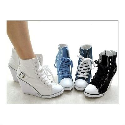 1000 ideas about high heel sneakers on wedge