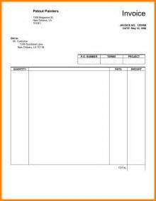 work invoice template pdf 4 blank invoices pdf bid template