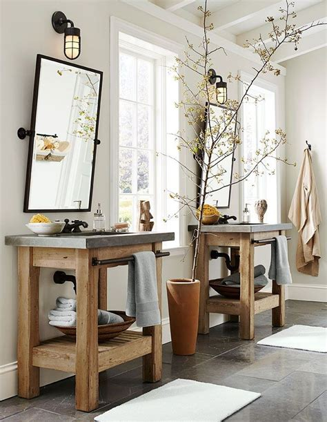 rustic bathroom mirrors rustic his her bathroom sinks love the lights mirrors