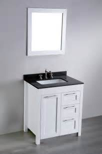 30 Inch Bathroom Vanity With Top 30 Inch White Contemporary Single Bathroom Vanity Black Granite Top