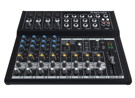 Mackie Mix12fx 12 Channel Compact Mixer With Effects mackie mix12fx