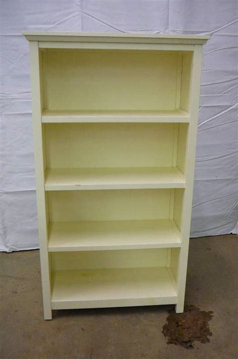 pottery barn bookcase moving sale 360 k bid