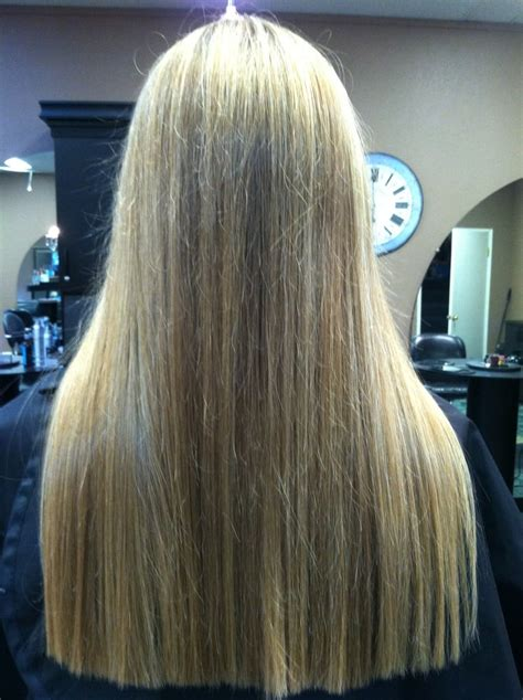 horizontal layers on long hair horizontal layers hair cutting two tone highlights on long