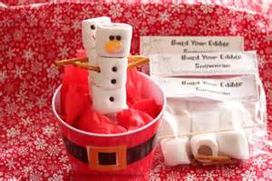easy christmas party favor build your edible snowman kit