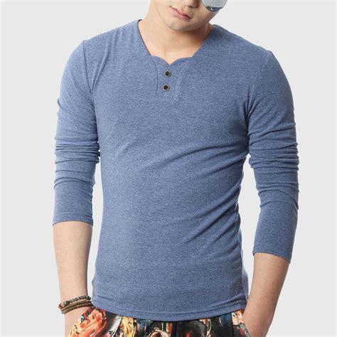 shirt pattern long sleeve men long sleeve t shirts v neck tight t shirt designer