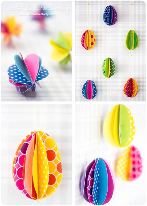 Easter Egg Paper Crafts - pappers 228 gg paper eggs craft creativity pyssel diy