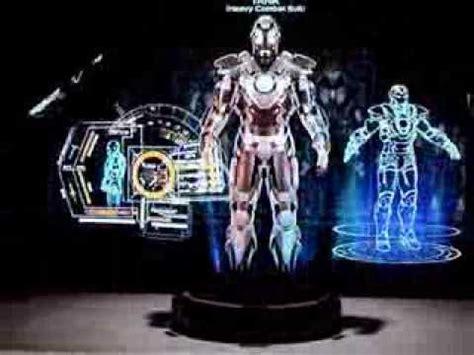 iron man hall armor hot toys hologram display