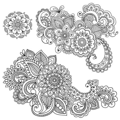 henna designs coloring page image result for mandala svg axo crafts pinterest