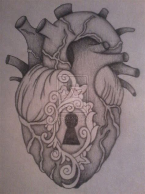 heart locket tattoos anatomical locket drawing that i