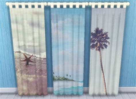 My Sims 4 Blog Beach Themed Curtains By Sunshineandrosescc