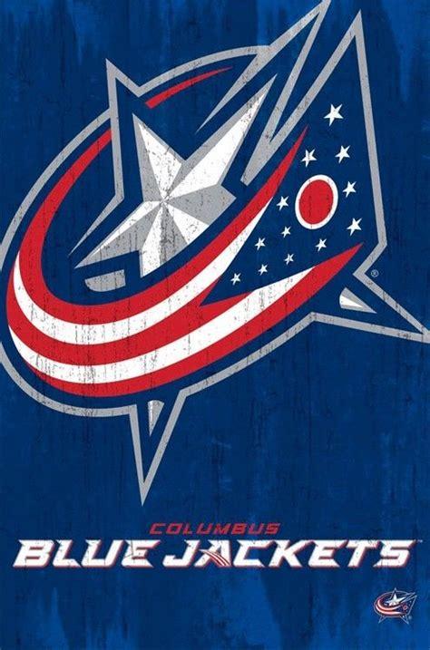 iphone wallpaper blue jackets columbus blue jackets poster aged logo 22x34 nhl hockey