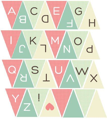 printable bunting letters pinterest the world s catalog of ideas