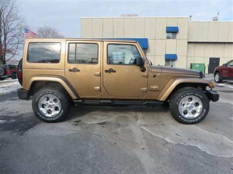 light brown jeep wrangler 2015 jeep wrangler unlimited sahara in copper brown 2015