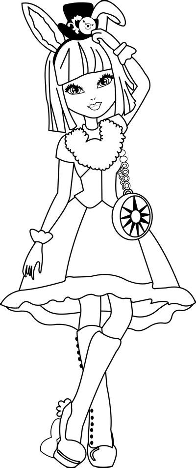 ever after high coloring pages bunny blanc bunny blanc coloring by jessicajanet on deviantart