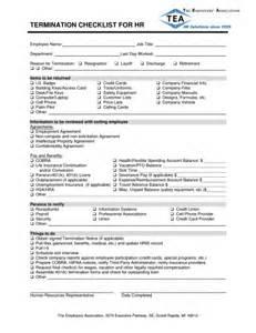 Termination Checklist Template by Termination Checklist Template Excel Pdf