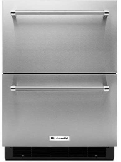 kitchenaid double drawer dishwasher price kudr204esb kitchenaid 24 quot double drawer refrigerator with