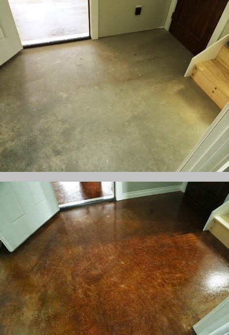 staining finishing concrete floors rust oleum