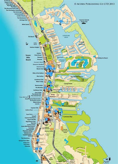 printable map grand cayman island cayman islands map