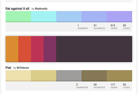 flat color combination 扁平设计终极入门系列七 颜色方案 极客标签 在线编程知识分享学习平台