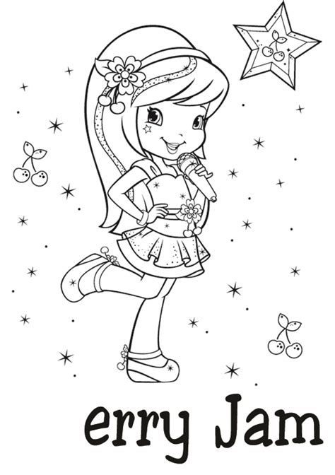 Cherry Jam Strawberry Shortcake Coloring Pages strawberry coloring pages strawberry shortcake cherry jam