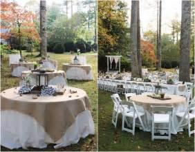 Outdoor Rustic Wedding Burlap Trendy Mods Com