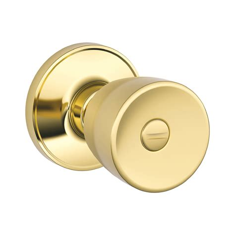 Lock Knobs by Shop Schlage J Byron Bright Brass Tulip Turn Lock Privacy