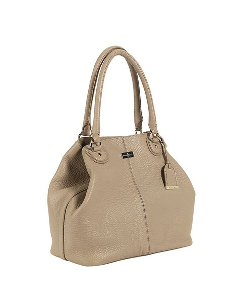 Cole Haan Medium Convertible Tote by Cole Haan Leather Convertible Tote Bag In Beige Lyst