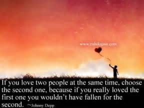 In Love With Two People Quotes by Love Quotes If You Love Two People At The Same Time
