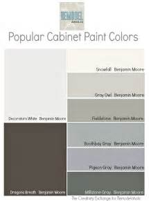 Benjamin Moore Kitchen Cabinet Paint Colors by Remodelaholic Trends In Cabinet Paint Colors