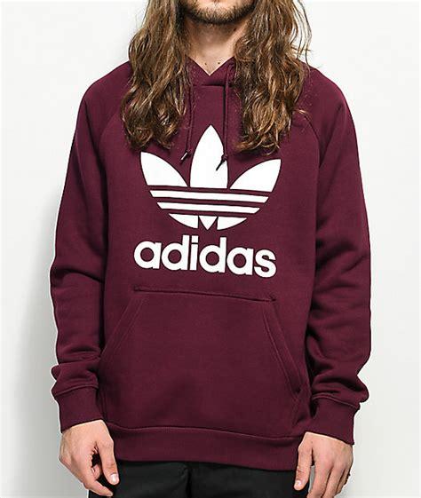 Adidas Hodie Jaket adidas trefoil maroon hoodie zumiez